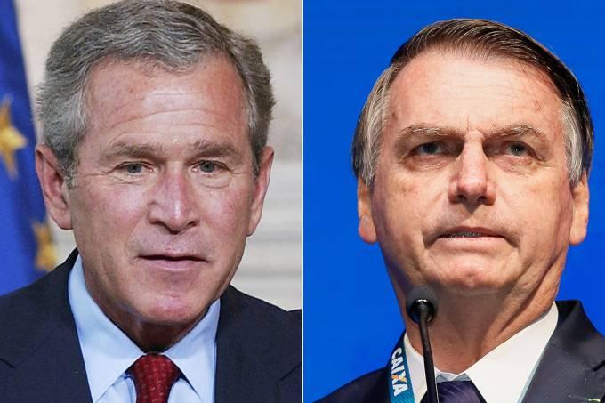 George W.Bush e Jair Bolsonaro