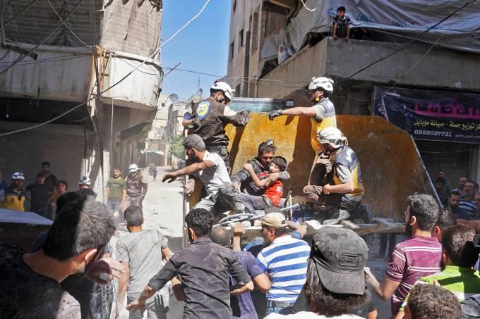 Bombardeios na Síria