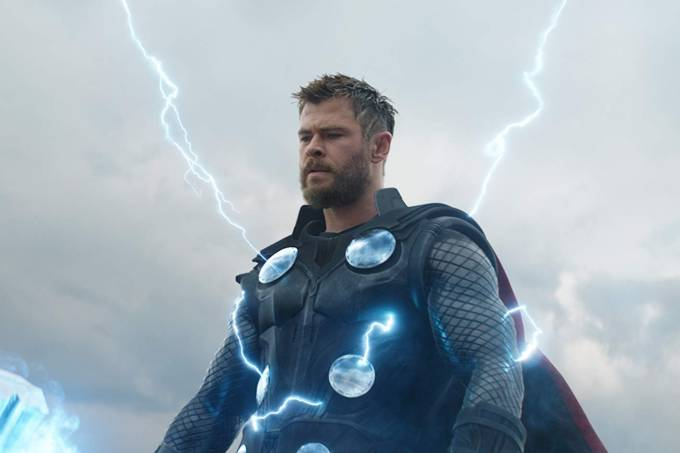 Chris Hemsworth como Thor em 'Vingadores: Ultimato'
