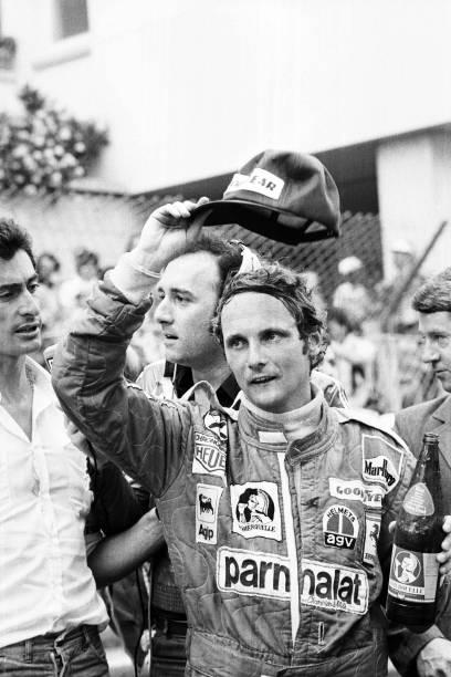 Niki Lauda durante os treinos para o GP de Mônaco de 1976