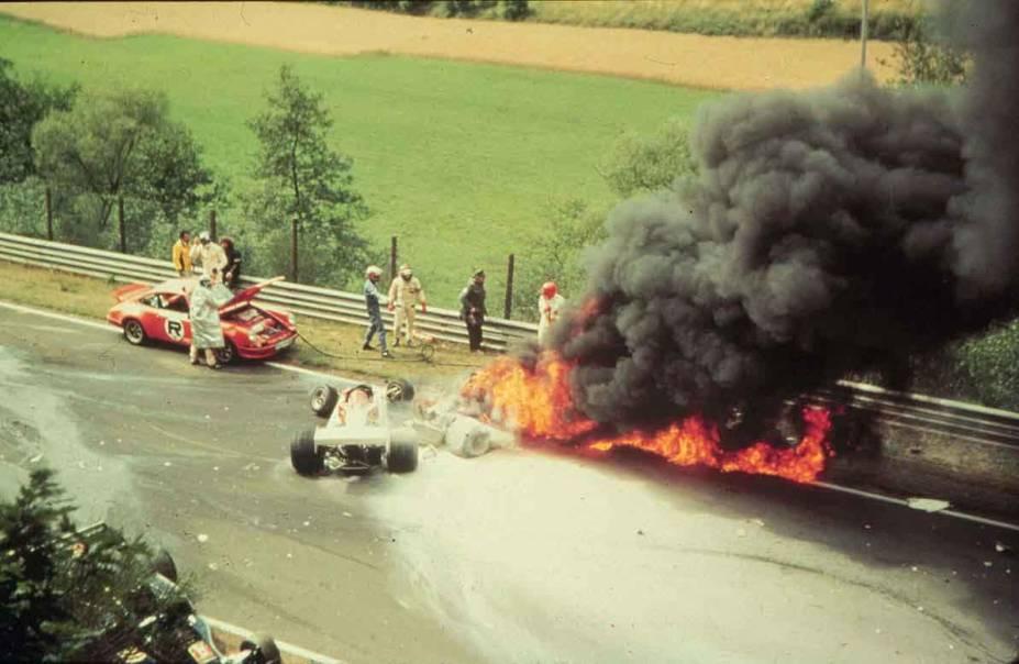 Acidente de Niki Lauda durante o GP da Alemanha de 1976, em Nurburgring