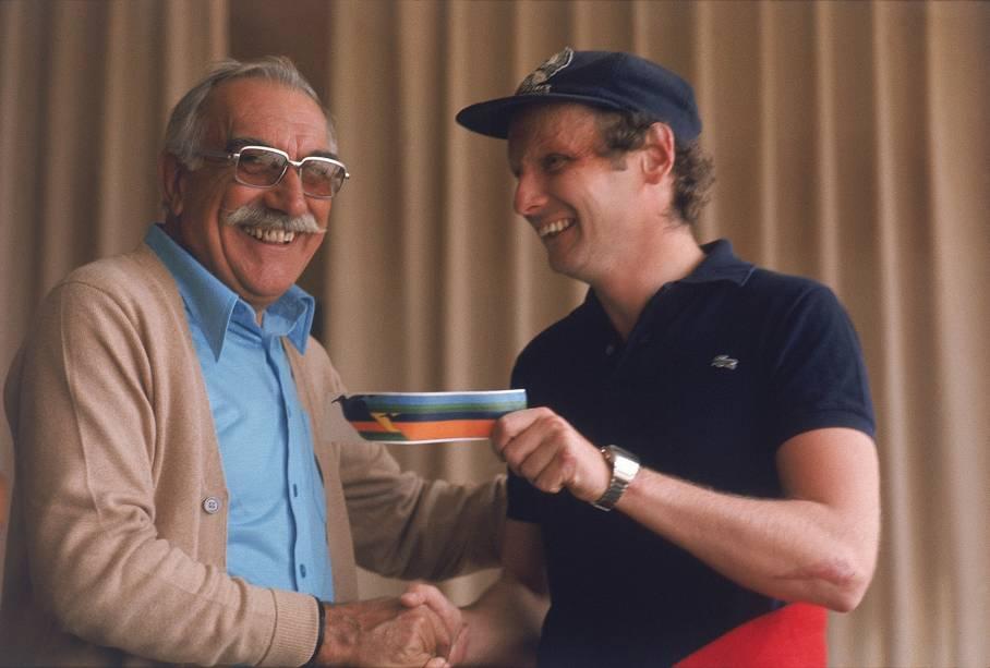 Wilson Fittipaldi e Niki Lauda em 1975
