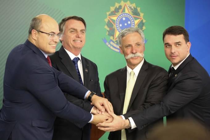 Jair Bolsonaro, Witzel, e Chase Carey/