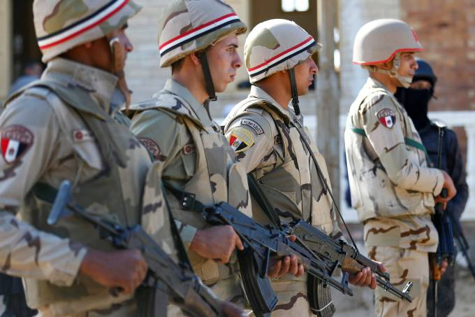 FILE PHOTO: Military forces are seen in North Sinai