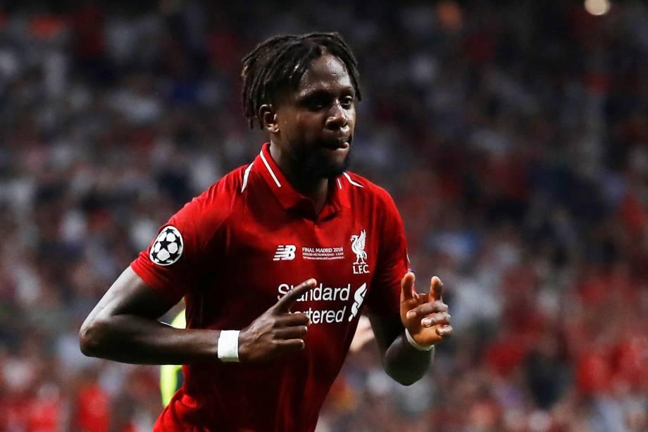 Jogo entre Tottenham e Liverpool,  válido pela final da Champions League, o jogador Divock Origi do Liverpool comemora segundo gol do time do Liverpool
