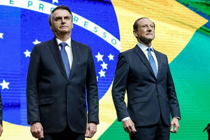 Jair Bolsonaro e Paulo Skaf