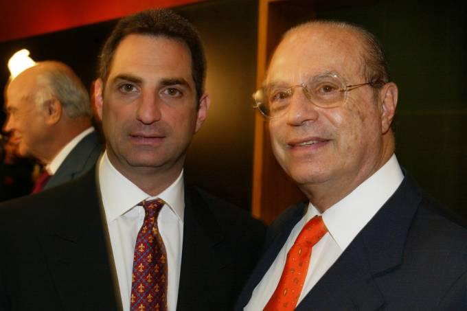 O ex-governador Paulo Maluf e seu filho Flávio