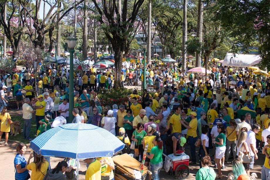 Manifestação realizada na Praça da Liberdade, em Belo Horizonte (MG), em apoio ao ministro Sergio Moro - 30/06/2019
