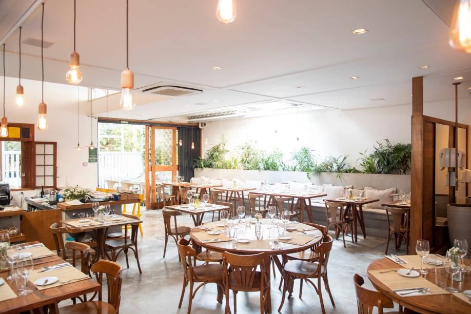 O agradável salão do Lume: restaurante levou prêmio de melhor da cidade e melhor variado/contemporâneo