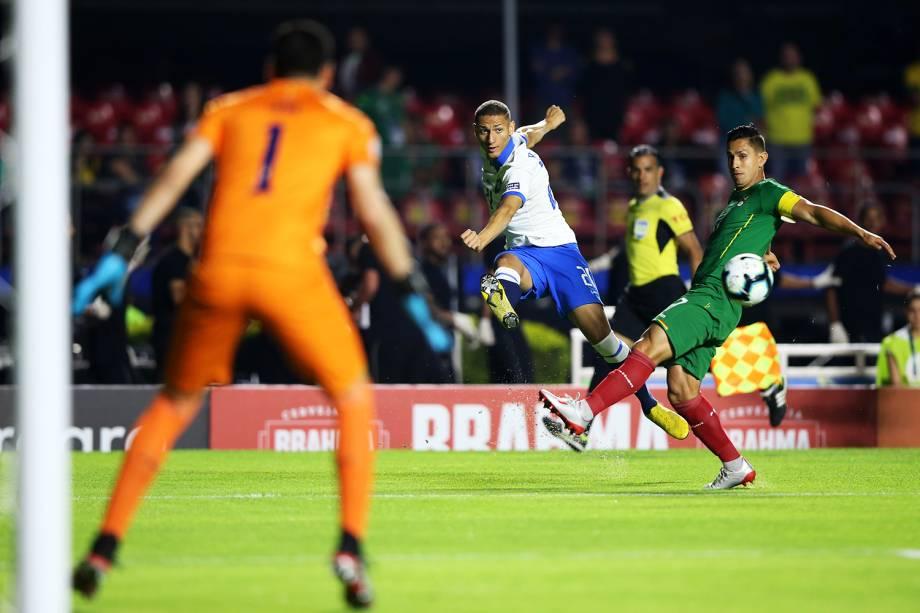 Richarlison, da Seleção Brasileira, durante partida contra a Bolívia, válida pela Copa América - 14/06/2019