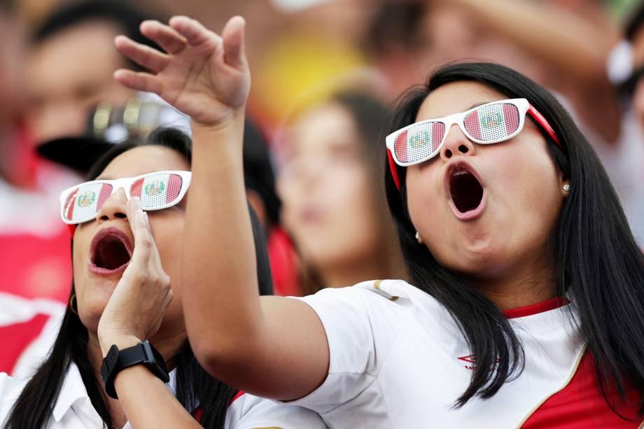 Torcedores marcam presença na Arena Corinthians, antes de partida entre Brasil e Peru, válida pelo grupo A da Copa América - 22/06/2019