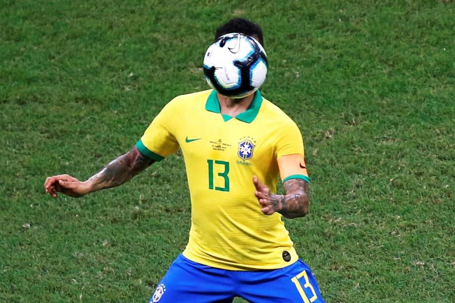 Daniel Alves, jogador da seleção brasileira, durante partida contra a Venezuela - 18/06/2019