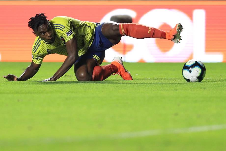 Duvan Zapata, jogador da Colômbia, durante partida contra o Catar, válida pela Copa América - 19/06/2019