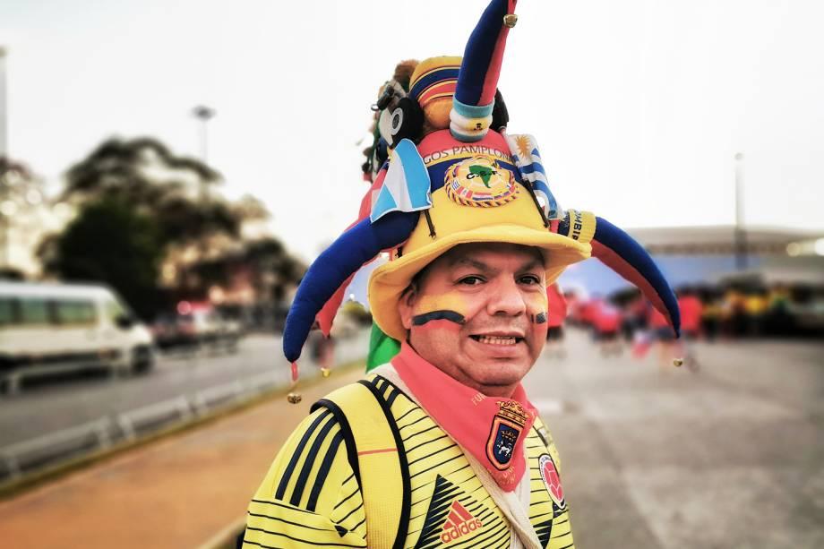 Torcedores começam a chegar na Arena Corinthians, em São Paulo (SP), para a partida entre Colômbia e Chile, válida pelas quartas de final da Copa América - 28/06/2019