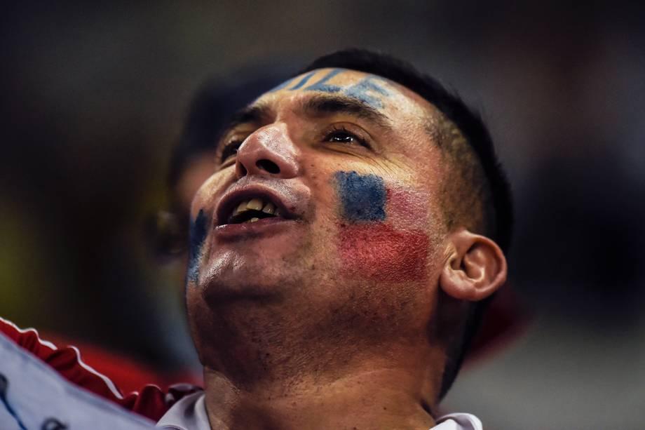 Torcedores marcam presença na Arena Corinthians, em São Paulo (SP), para a partida entre Colômbia e Chile, válida pelas quartas de final da Copa América - 28/06/2019