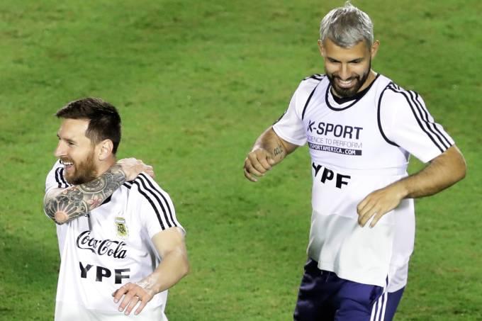 Lionel Messi e Sergio Aguero