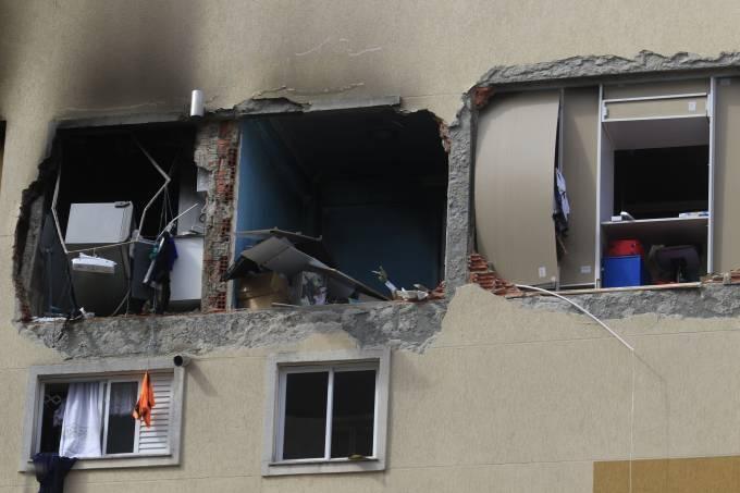 Explosão em apartamento