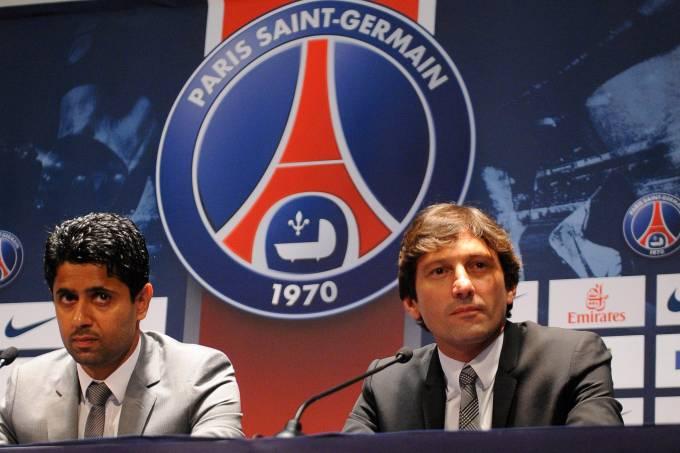 Nasser Al-Khelaifi e Leonardo