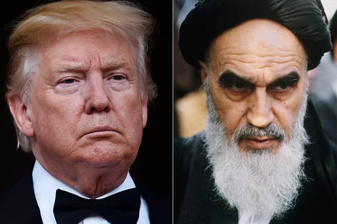 Donald Trump e Ayatollah Ruhollah Khomeini