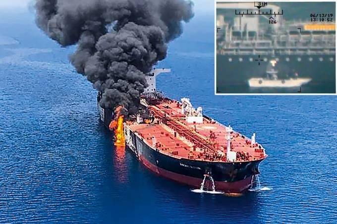 Incêndio em petroleiro no Golfo de Omã