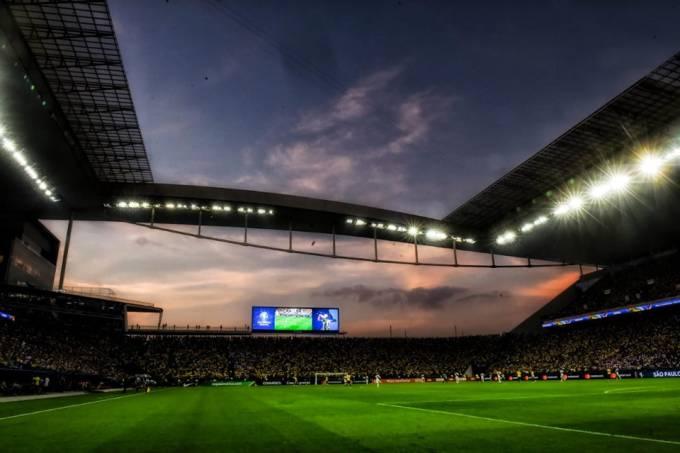 Arena Corinthians durante o jogo entre Brasil e Peru pela Copa América 2019