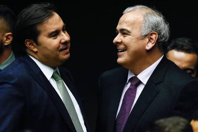 Rodrigo Maia e Júlio Delgado