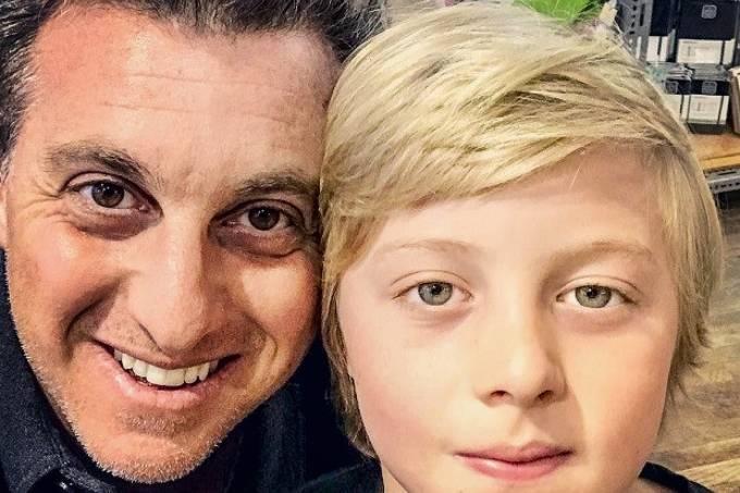 Luciano Huck e seu filho Benício