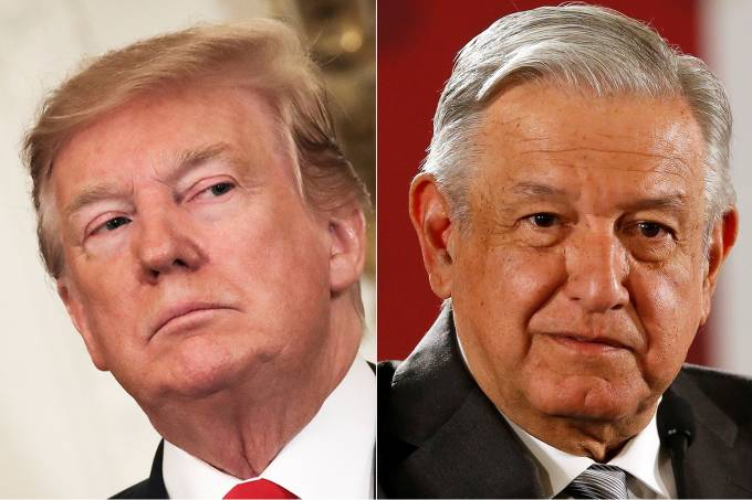 Donald Trump e Andrés Manuel López Obrador