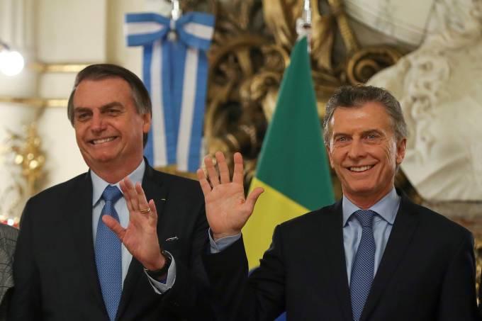 Mauricio Macri recebe Jair Bolsonaro