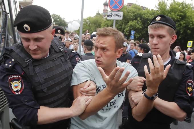 Polícia detém manifestantes em Moscou
