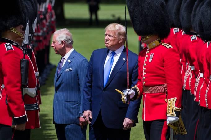 Donald Trump faz visita de Estado ao Reino Unido