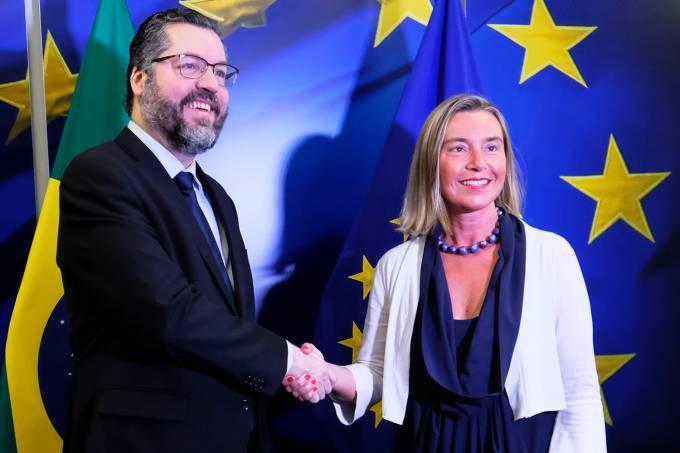 Ernesto Araújo e Federica Mogherini