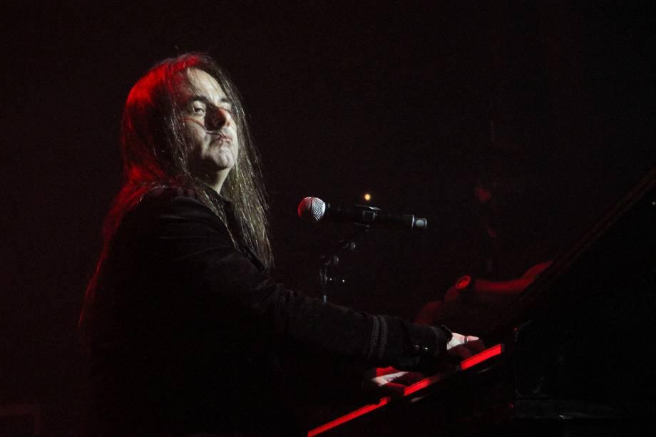 Andre Matos, ex-vocalista e um dos fundadores da banda de metal Angra, se apresenta durante o Free Pass Metal Festival III, no Espaço das Américas, em São Paulo - 02/06/2019