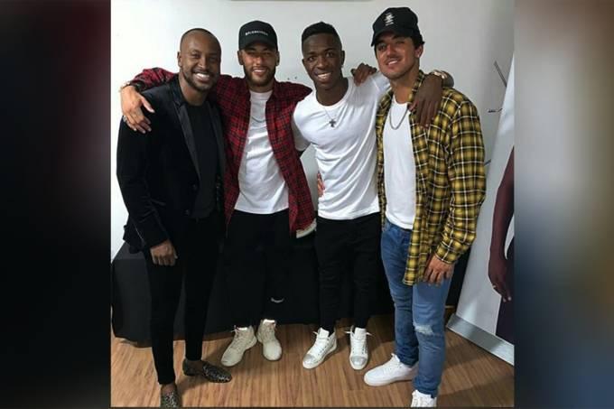 Thiaguinho, Neymar, Vinicius e Gabriel Medina