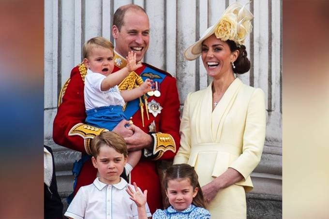 William, Kate Middleton e filhos George, Charlotte e Louis