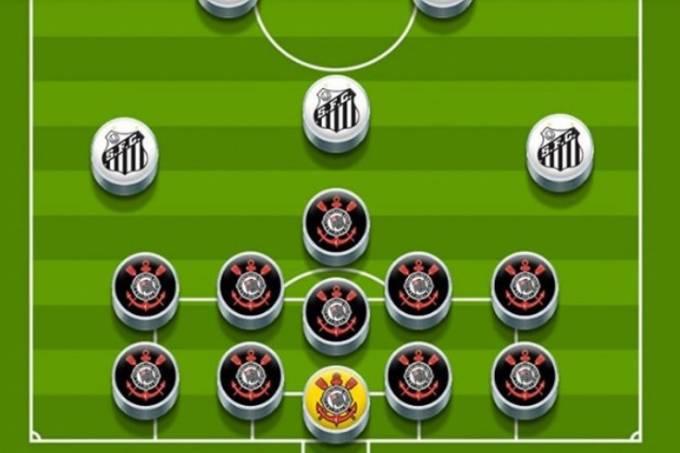 Santos ironizou postura defensiva do Corinthians