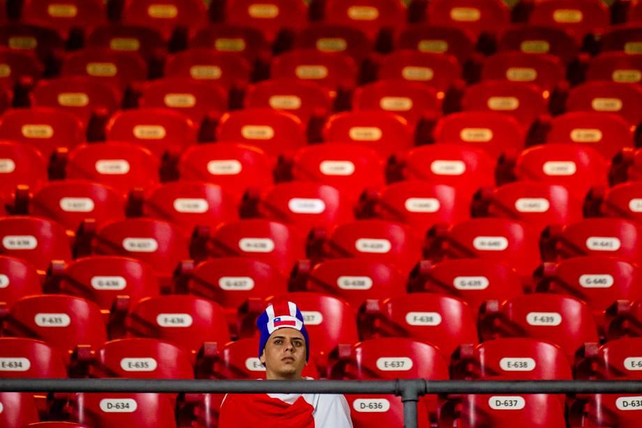 Morumbi tem público tímido para a partida entre Japão e Chile, válida pelo grupo C da Copa América