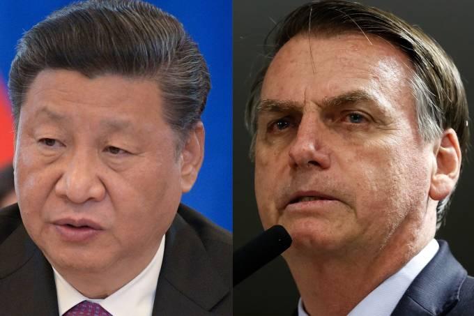 Xi Jinping and Bolsonaro