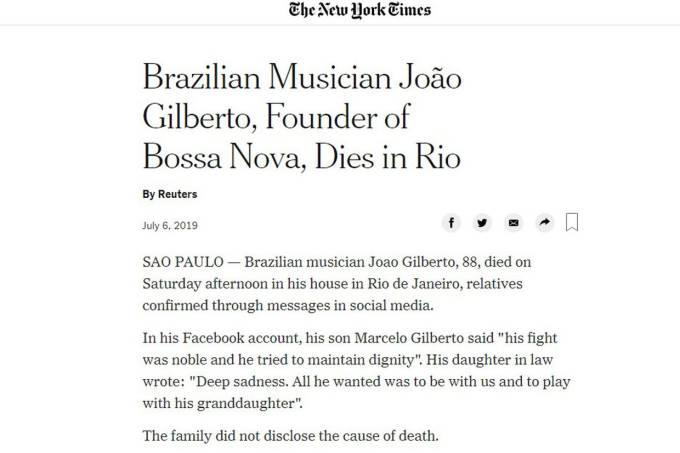 NYT João Gilberto