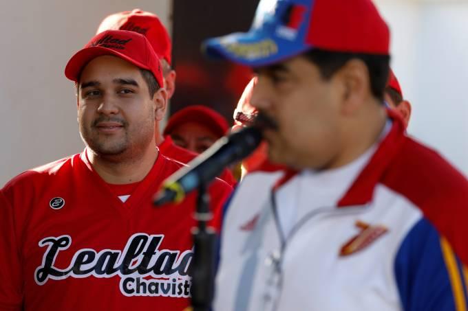 Nicolás Maduro e o filho Nicolasito