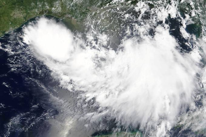 Tempestade tropical Barry no Golfo do México
