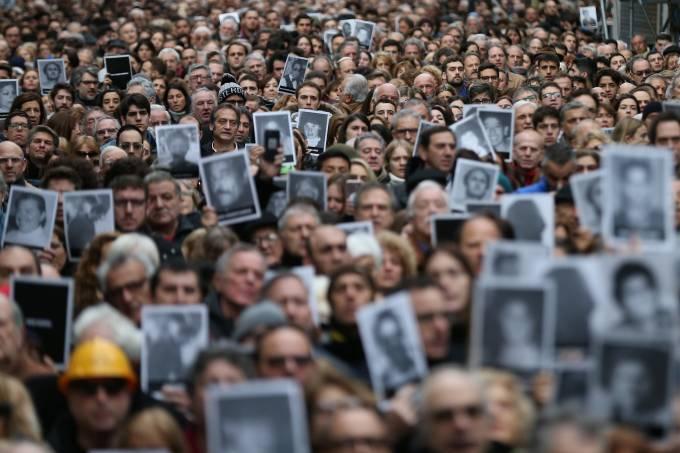 25º aniversário do atentado contra a Amia, na Argentina