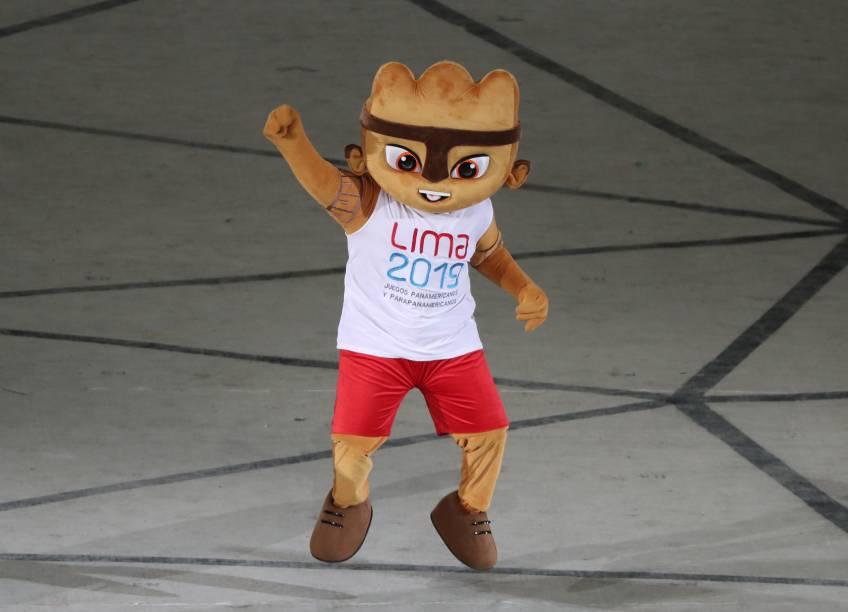 Milco, o mascote do Pan se apresenta antes da cerimônia de abertura, em Lima, no Peru