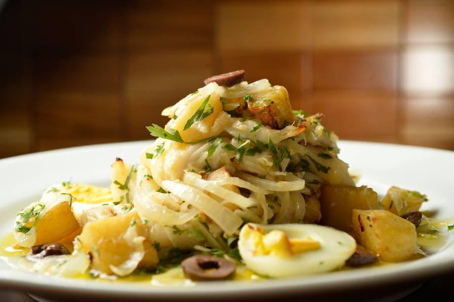 Prato principal: bacalhau à gomes de sá