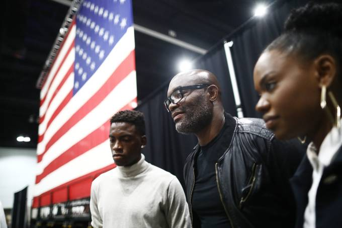 Naturalization Ceremony Held At Los Angeles Convention Center