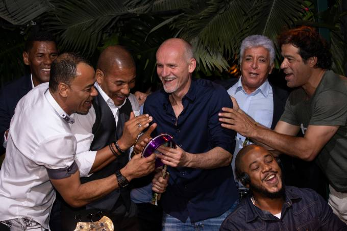 Cafu, Mauro Silva, Taffarel e Raí_credito ROGERIO RESENDE
