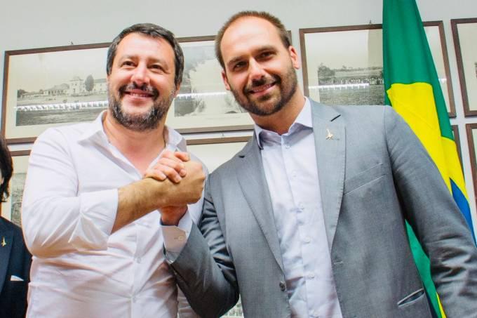 Matteo Salvini e Eduardo Bolsonaro