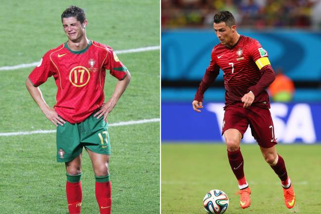 Cristiano na Euro-2004 e, dez anos depois, coberto no calor da Amazônia