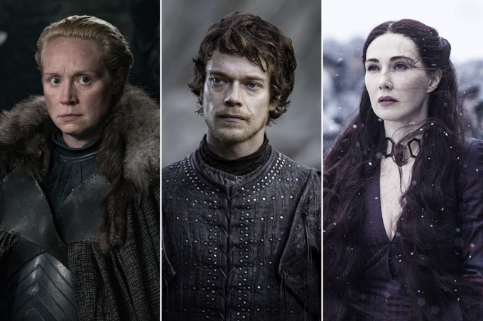 Gwendoline Christie, Alfie Allen e Carice van Houten em 'Game of Thrones'