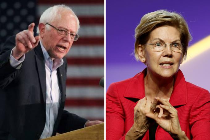 Bernie Sanders e Elizabeth Warren